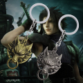 Hot Movie Final Fantasy Alloy Build Matt 7 Wolf Head Keychain Anmial Pendant Key Ring YSK010