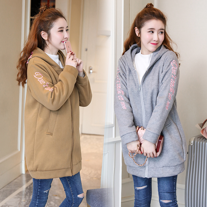 Maternity Coats Autumn Winter Clothes for Pregnant Women Thicken Warm Jacket Loose Plus Size Pregnancy Tops Outwear M-3XL C129 maternity clothes new stely fashion loose pure color cloak jacket clothes for pregnant women coat