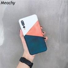 Meachy Phone Case For Huawei P20 Pro P30 Mate 20 Geometric Splice Hard Cover Honor 10 9 V20 Nova 2s 4
