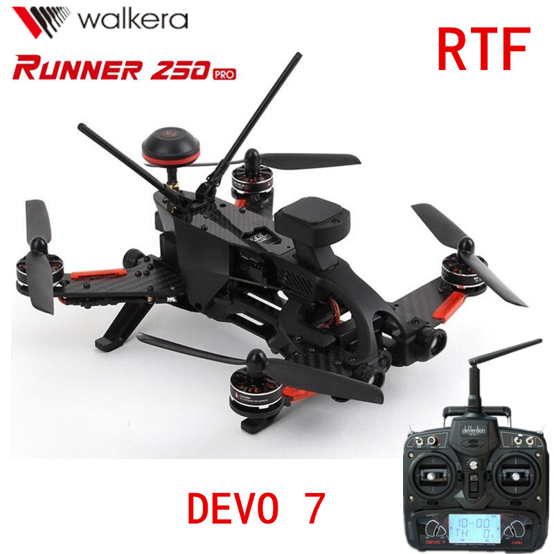 Original Walkera Runner 250 PRO + DEVO 7 GPS RC Racing Quadcopter Drone with Camera/OSD/GPS/DEVO 7 Transmitter RTF walkera devention devo 10 2 4ghz 10ch telemetry rc transmitter for rc quadcopter