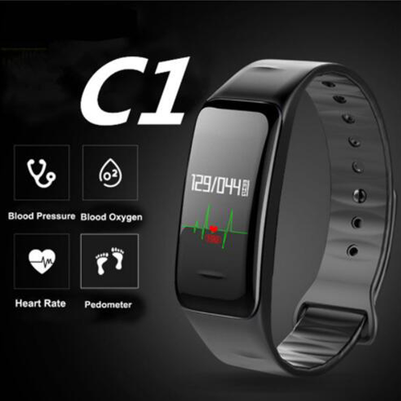 все цены на Color Screen Smart Band C1 watches Blood Pressure Heart Rate reloj pulsometro montre podometre Fitness Bracelet pk fitbits xiomi онлайн