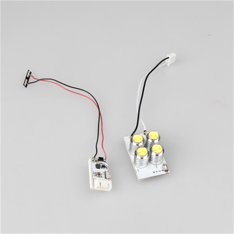 Ultra Bright Four Headlights Bead Head Lamp Reduction Voltage Module For DJI Phantom 3 RC Quadcopter Spare Part Accessories