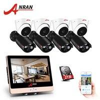 ANRAN 1080P HD 8CH POE NVR Security POE Camera NightVision IP Camera Outdoor Waterproof IR CCTV System Surveillance System Kit