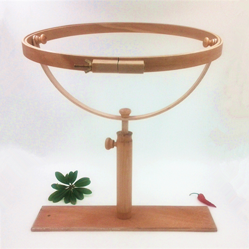 Dia41cm Hoop Embroidery Frame Wood Cross Stitch Embroidery Frame Wooden Stand Embroidery Frame Desktop Frame Cross