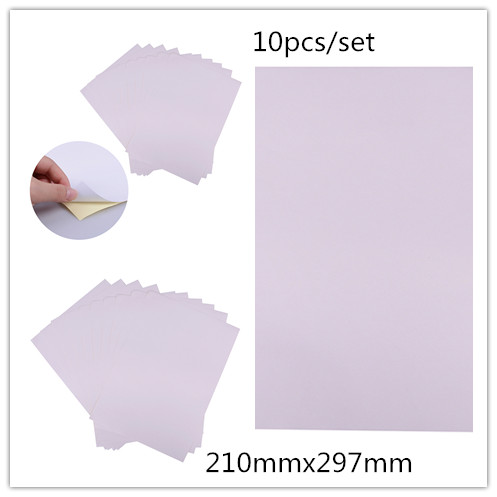 10pcs/set A4 matt printable white self adhesive sticker paper Iink for office 210mmx297mm 3