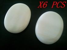 Free Shipping 80*60*20mm Size New 6PCS Hot Stone Massage Rocks