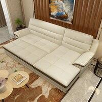 Небольшой квартире Многофункциональный складной королевская кровать кожа многофункциональный диван