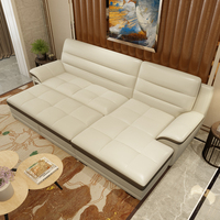 Small apartment Multifunctional Folding Royal bed Leather Multifunctional sofa