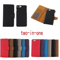 Two In One Luxury Retro Flip Case For Coque IPhone 7 7plus Flip Wallet Cover For