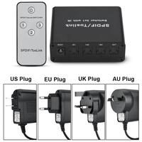 3 Ports 3 x1 SPDIF/TOSLINK Digital Optical Audio Switcher Switch Box with IR Remote Control