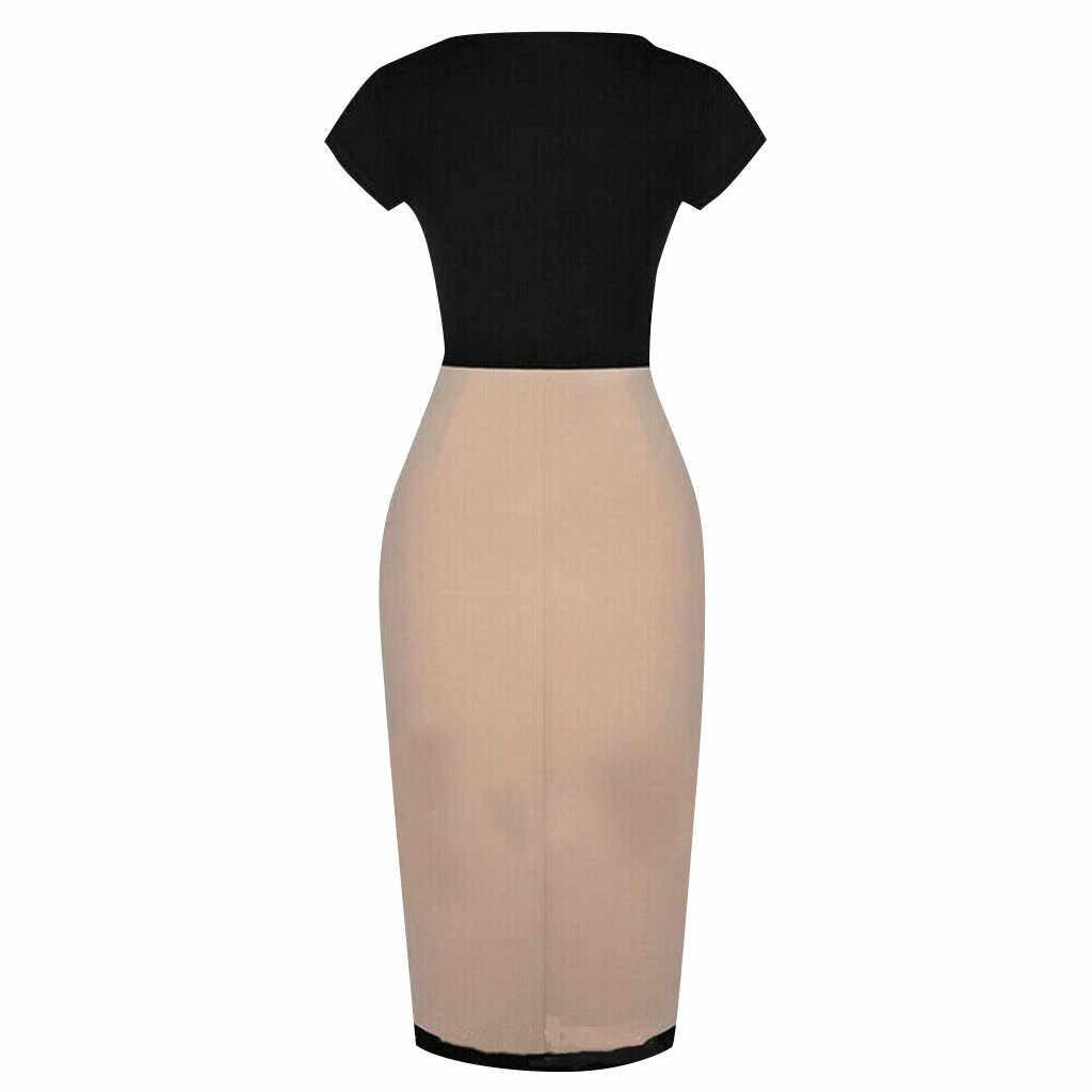 Модное летнее платье из органической кожи, с короткими рукавами, с круглым вырезом