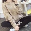 Mujeres suéteres y suéteres de invierno suéter de punto para mujer suéteres de moda de Corea 2015 otoño nueva tallas grandes tire femme