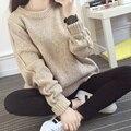 Mulheres suéteres e pulôveres de inverno das mulheres camisola de malha blusas moda Coreano 2015 outono nova plus size puxar femme