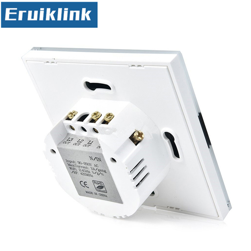 EU/UK Standard Wifi Touch Switch,eWelink APP Remote Control Light Switch  via Android/IOS for Smart Home Wall switch