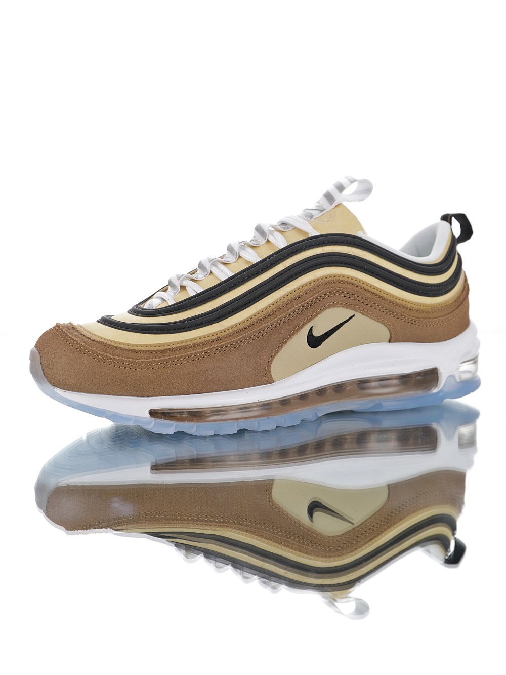 Q13 Nike Air Max 97 OG Wmns Yellow White Running Shoes 921826 201 921826 201