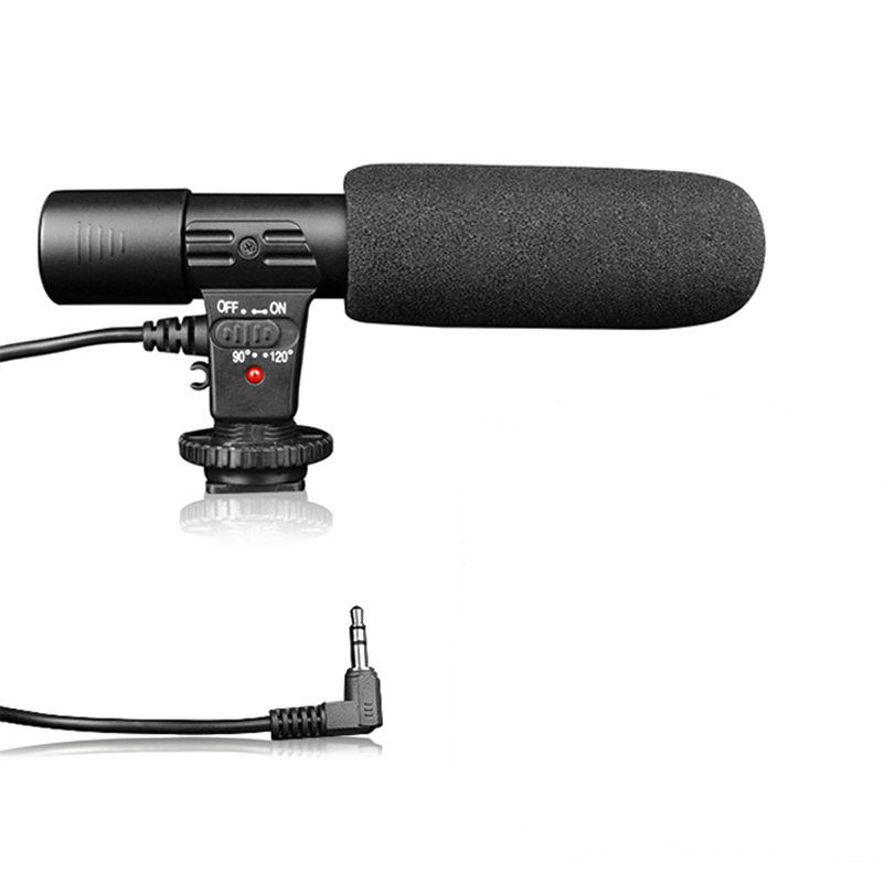 MIC-01 Stereo Camcorder Microphone For Nikon Canon DSLR Camera Computer PC Mobile Phone Microphone For Xiaomi Iphone 8 X Samsung