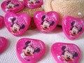 Coração rosa Mickey Mouse cabochões resina decoração diy ofício scrapbooking