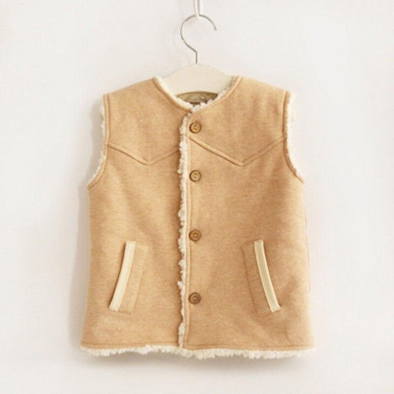 Berber Fleece Children Waistcoat Baby Vest kids Warm Winter Coat Baby boy Clothes For Children Clothes