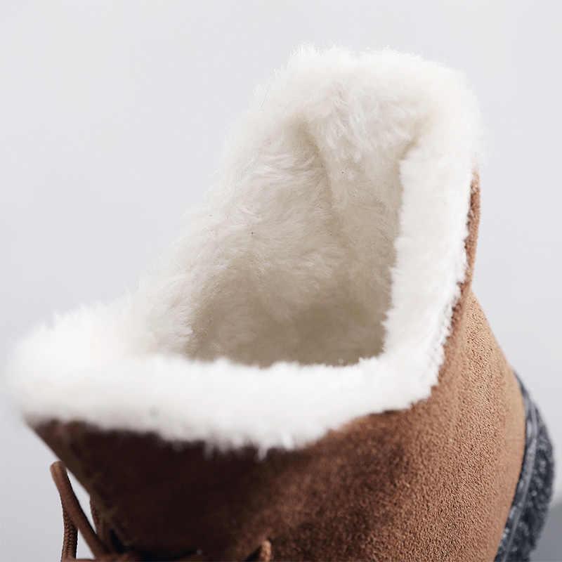 Женские ботинки; очень теплые зимние ботинки; женские замшевые ботильоны; зимняя обувь; Botas Mujer; женские плюшевые ботиночки; 2018