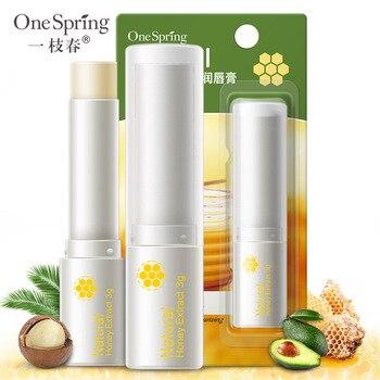 OneSpring Natural Aloe Honey lip Balm Moisturizing Colorless Long Lasting lipstick Repair lip Wrinkles For Woman/Man lip Care