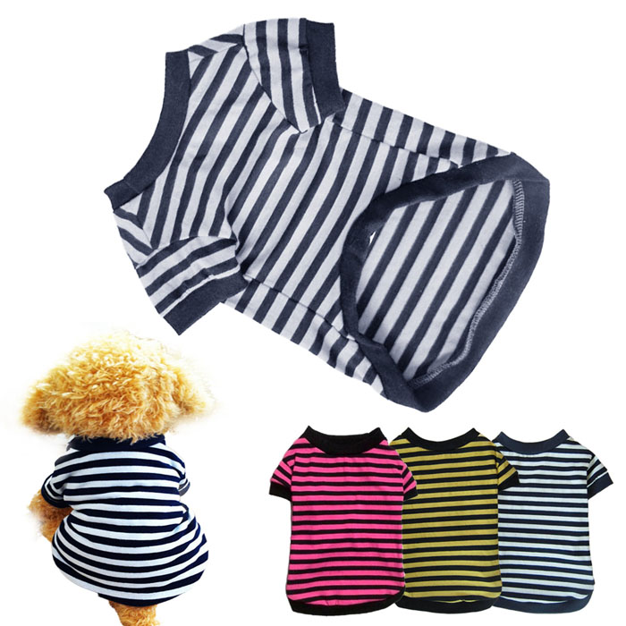 2017 New Arrival cheap dog clothes for small dog summer dog t shirt vest Pet Dog Classic Wide T-shirt Doggy Clothes Cotton hot