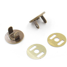 (10 sets /lot) 14mm-18mm thin magnetic button. Press. Magnetic. Bags magnet buckle. Buttons. Slim Snaps