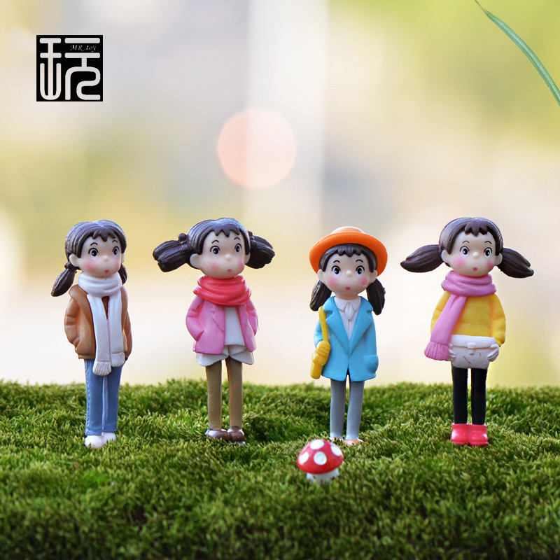 1pc Miyazaki My Neighbor Totoro - May Kawaii Girl Terrarium Figurines Fairy Garden Miniatures Mini Action Figure Toys ...
