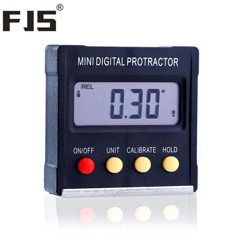 Mini Numérique Inclinomètre 4x90 Rapporteur Degré Électronique Angle Finder Niveau Boîte Goniomètre Magnétique de Base Biseau Jauge