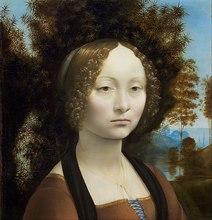 Ginevra De Benci by Leonardo Da Vinci Handpainted