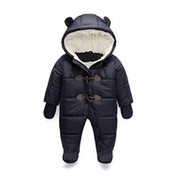 Cold Winter Rompers Baby Clothes Children Boy Girl Jumpsuit Kids Duck Down Cotton Overalls snowsuit Hoodies Clothing