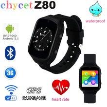 Z80 Bluetooth Smart Uhr Android 5.1 Nano SIM GPS/AGPS WiFi SOS WCDMA 3G Netzwerk Smartwatch Für Android IOS Smartphone PK Q18