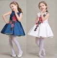 NOVATX цветочница платье без рукавов мода вышивка платья на рождество платье детская одежда для девочек платья партии