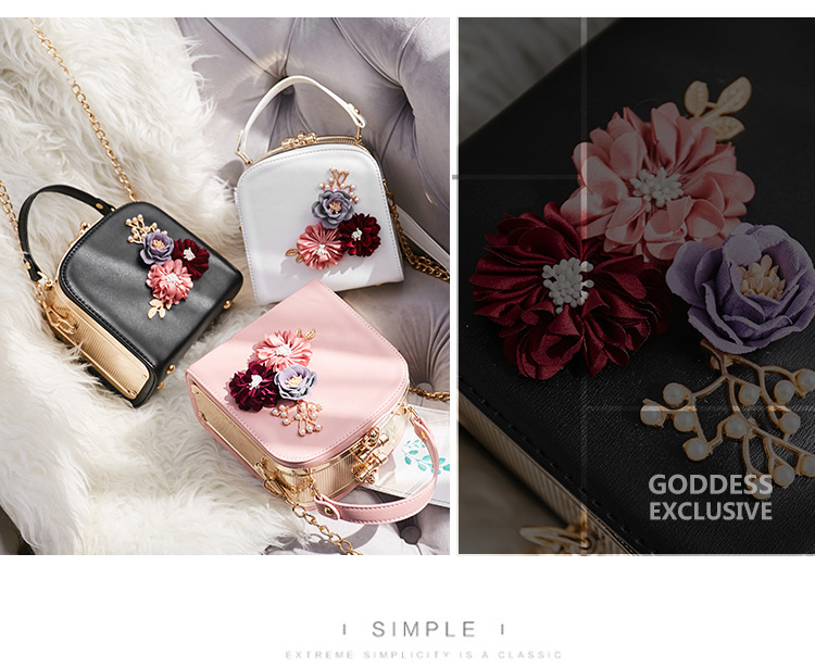 Women crossbody bag female messenger bag with long and short strap fashion designs flowers 51