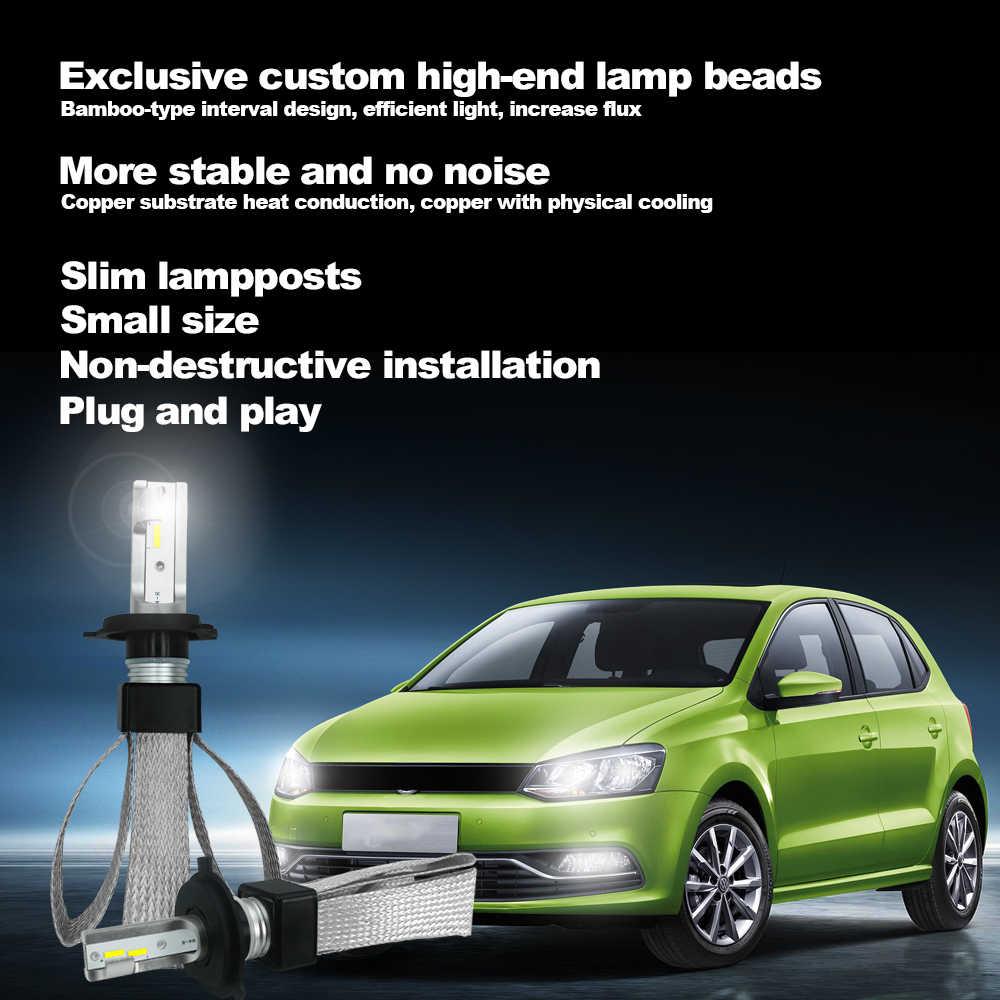 Автомобильный ампулы светодиодный головной светильник лампочка H1 H4 H7 H8 H11 9005 9006 HB2 HB3 HB4 светодиодный светильник лампа 80W 12V 6000K 9600LM авто фары комплект