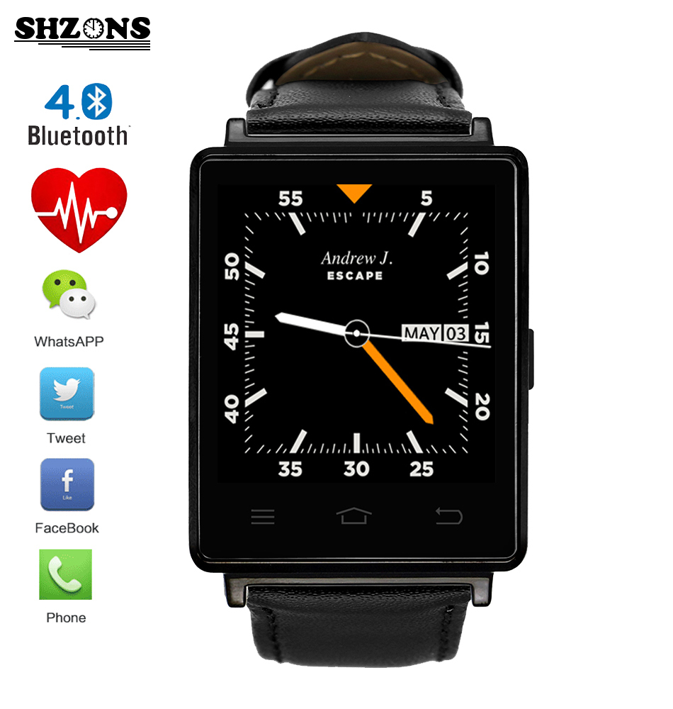 New D6 1.63 inch 3G Smartwatch Phone Android 5.1 MTK6580 Quad Core 1.3GHz GPS WiFi Bluetooth 4.0 Heart Rate Monitor Smart Watch bluetooth heart rate gps smart watch kw88 mtk6580 quad core 1 39 inch resolution 400 400 3g wifi smartwatch phone