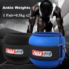 Ciężarki do kostek i nadgarstków 1kg regulowane ciężary ze stalowym wypełnieniem piasku bieganie chodzenie ćwiczenia nogi trening siłowy