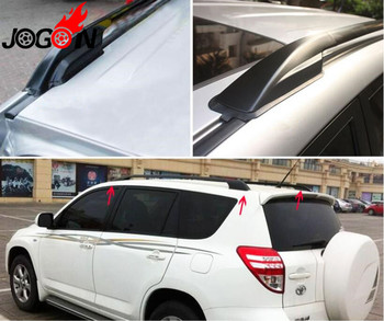 Car Styling 4 sztuk czarny ABS bagażnik dachowy końcówka szyny ochronna pokrywa Shell dla TOYOTA RAV4 2006-2012 akcesoria