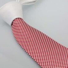 Мужские галстуки Coachella, дизайн, Белый контрастный узел, белые/красные пятна, двухцветные галстук Gravata, галстук в деловом стиле для свадебного платья