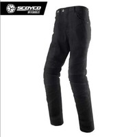 SCOYCO Winter warm Motorcycle riding pants cold proof motorbike locomotive jeans Rider racing trousers