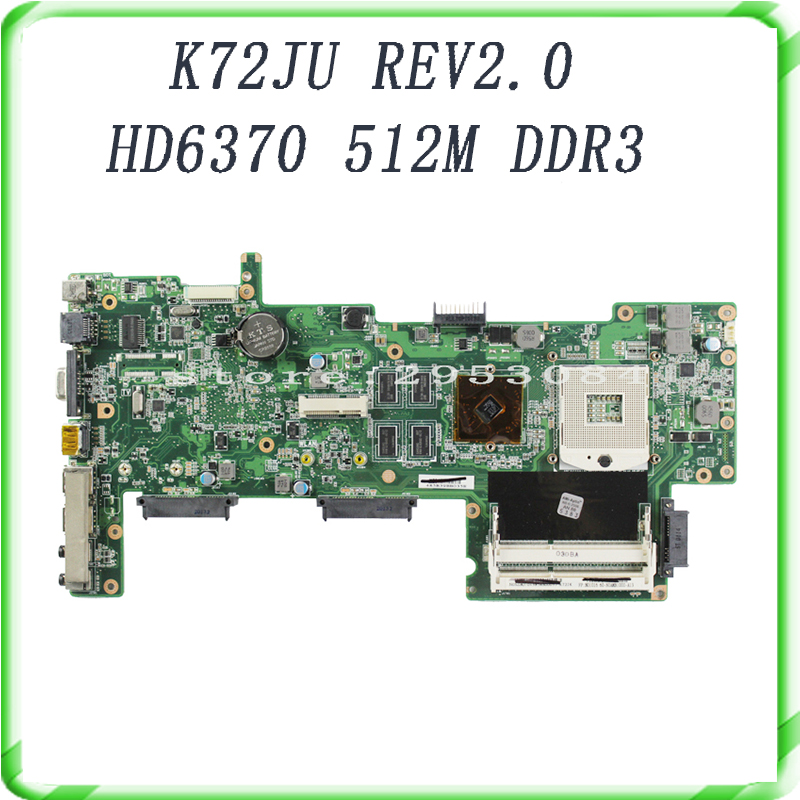 HOT selling K72JU K72JT laptop Motherboard for X72J mainboard HD6370M REV2.0 512M DDR3 216-0774211 fully tested 100% ju m chrysanthemum tea herbal tea stone ju m premium ju m 50g