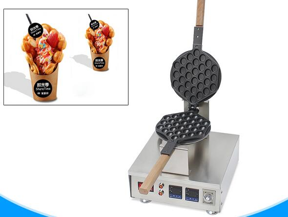 A professional China supplier major in producting digital hongkong egg waffle maker QQ egg wafel machinery