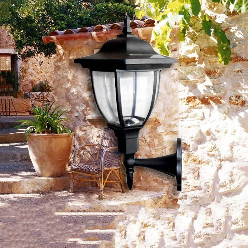 1PCS Outdoor Garden/Yard/Path/Patio Solar Wall Light Popular Solar lamp 4LED Solar Lamp Decoration wall lampada CP162 new 8pcs solar light lamp powered outdoor garden yard wall led light gutter fence wall lamp