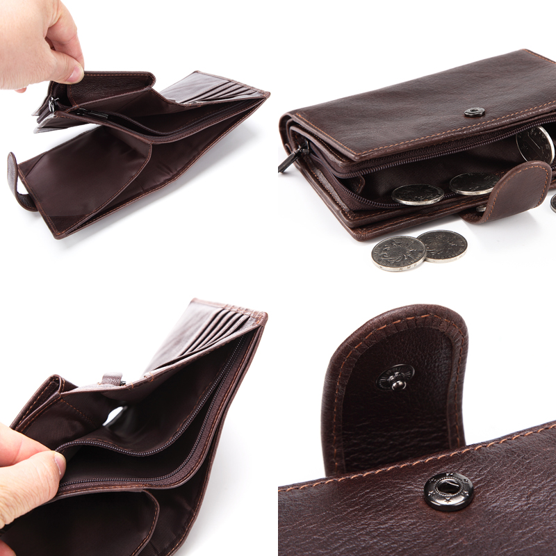 Image 5 - Betiteto Genuine Leather Mens Passport Cover Wallet Large Capacity Passport Holder Coin Purse Men Organizer Wallets Card HolderWallets   -