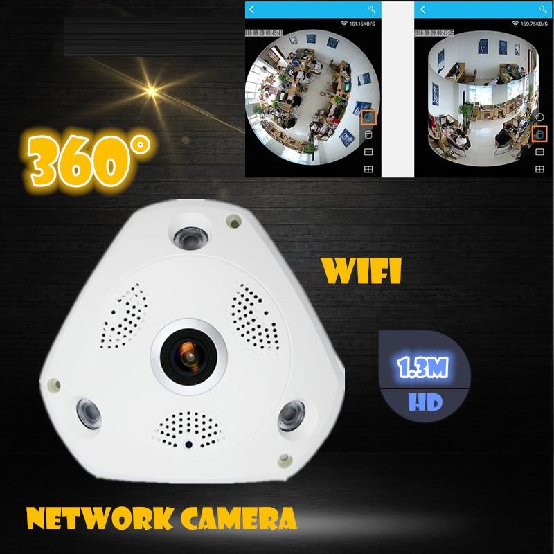 New WIFI IP Camera 360 Fisheye Panoramic Dome Camera 1.3MP 960P CCTV Night Vision Video Surveillance Security  v380