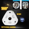 Nova WIFI Câmera IP 360 Fisheye Panorâmica Câmera Dome 1.3MP 960 P CCTV Night Vision Video Surveillance Segurança v380