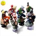 6 pçs/lote Naruto 8 cm xadrez de ação figura nova Sasuke Ninja brinquedo modelo