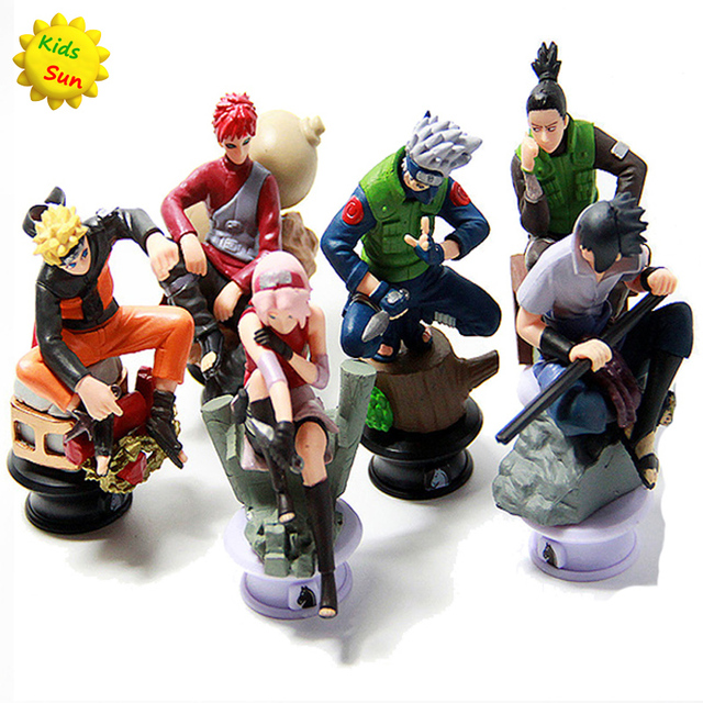 6pcs/lot Naruto Chess Sasuke Ninja Toy