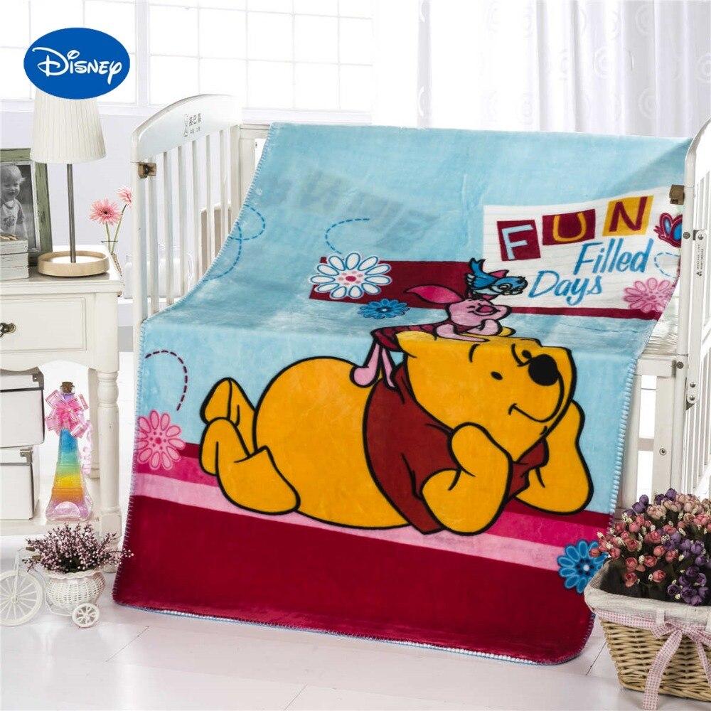 Винни-Пух Пятачок с Одеяло Пледы Disney мультфильм 100*140 см Размеры фланель Ткань детские, для малышей детские кроватки теплые Skyblue