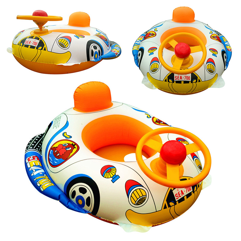 Inflatable Pool Float Baby Kids Swimming Ring With Car Steering Wheel Children Pool Bath Accessories 2019