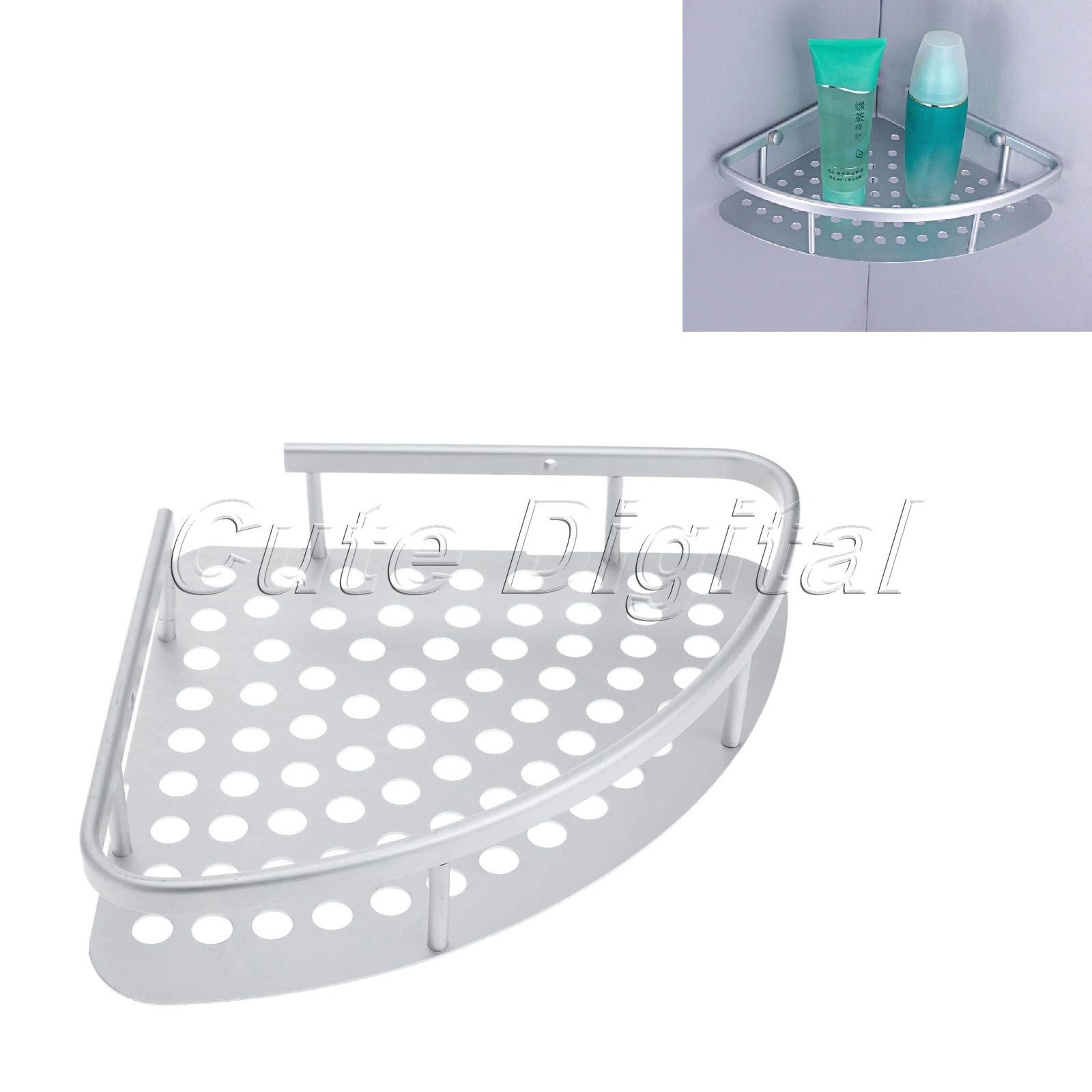 Aluminum Bathroom Shelf Bath Shampoo Basket Wall Mounted Bathroom ...